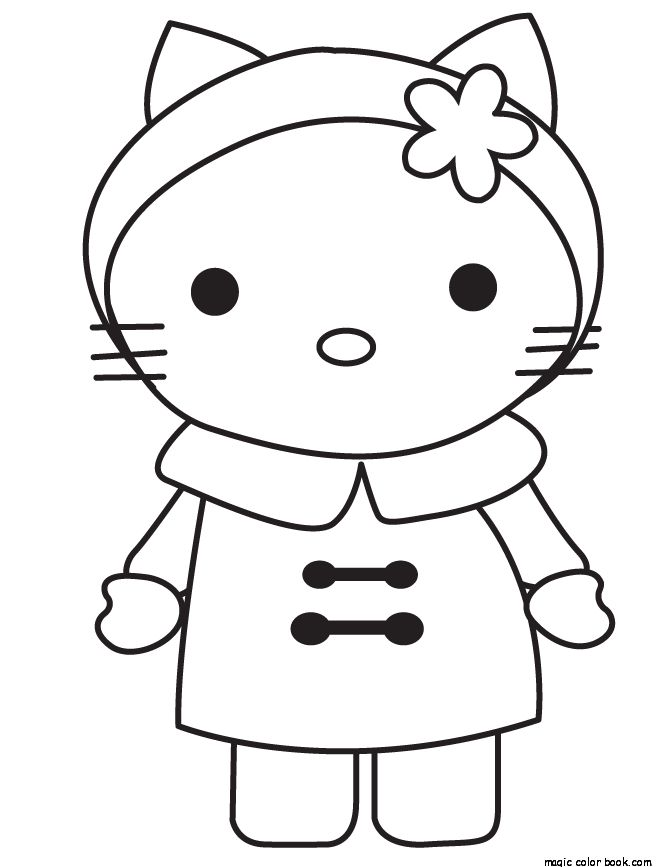 33 best Hello Kitty Coloring pages free online images on Pinterest ...