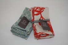 Napkins Set of 4 in various designs and colours.