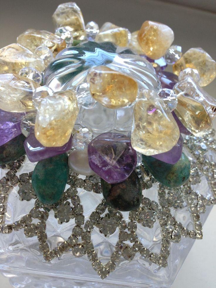 Jewel cluster, citrene, amethyst, torquoise