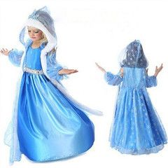 $22 for Frozen Elsa Snow Queen Dress with Cape | DrGrab