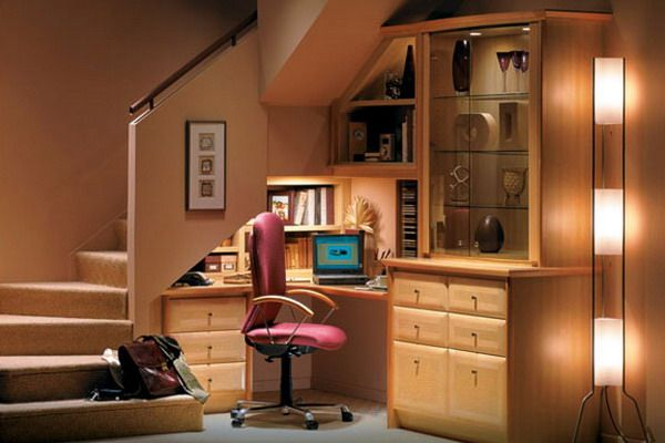 Desk under the stairs!