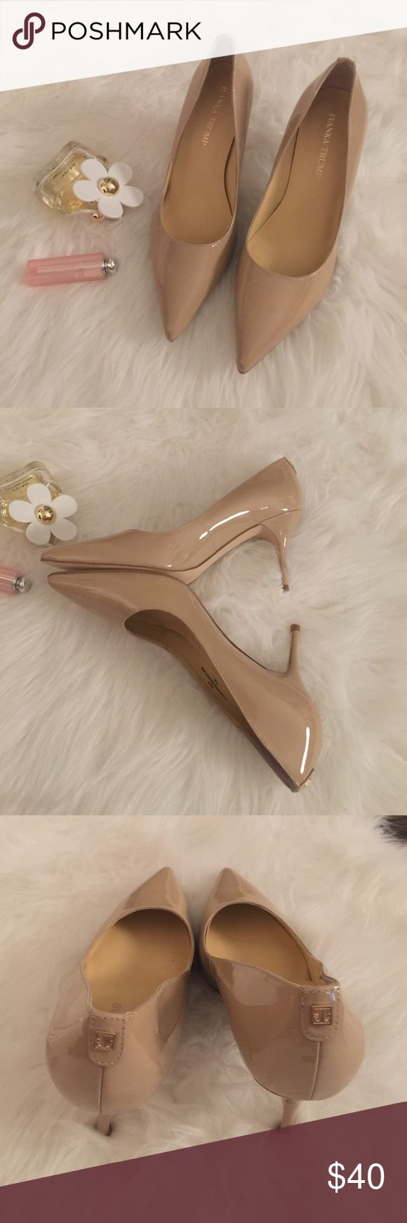 Ivanka trump nude pumps Very adorable pointy heels. Very easy to work and goes with everything. Heels are about 3 inches. Only tried on carpet. Basically new originally $109 pre tax Ivanka Trump Shoes