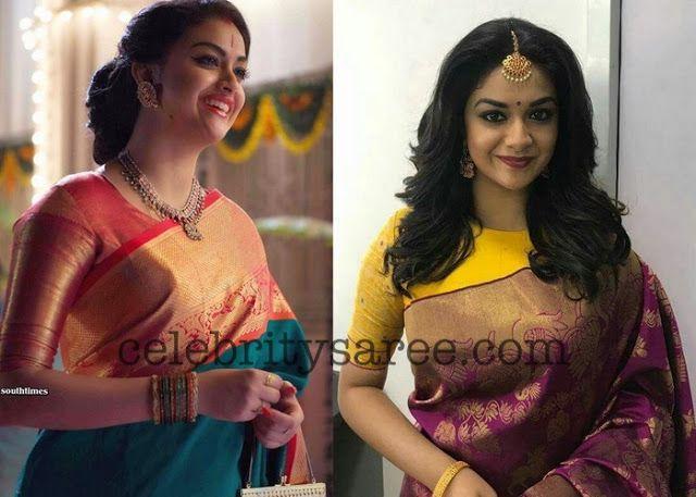 d23875f0030bf Keerthi Suresh Pattu Blouse Designs