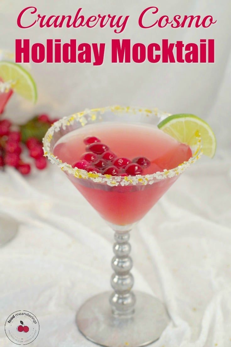 Cranberry Cosmo Mocktail Recipe Mocktail Recipe Mocktails Non Alcoholic
