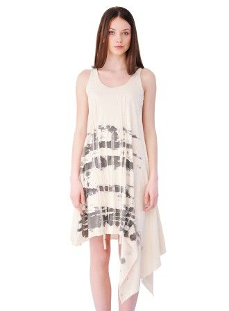 Dress with fringes, hand-painted