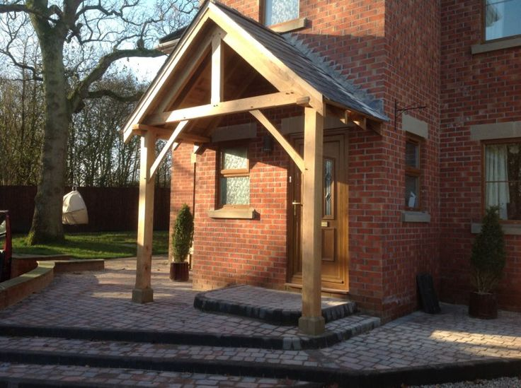 Oak Porch Fitted On Our Staddle Stones Door Canopy