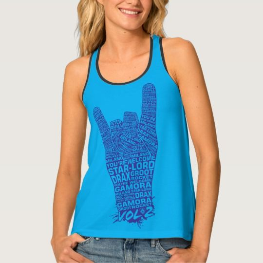 Guardians of the Galaxy Vol. 2 | Rock Hand Sign Tank Top | Marvel Comics Tank Tops For Teens and For Women | Marvel Fans