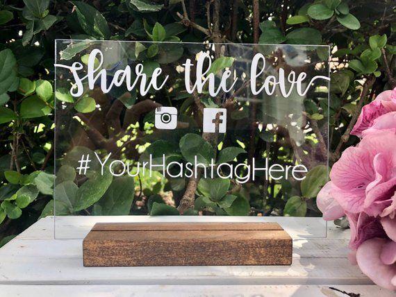 Acryl Schild Stand Holz Halter Glas Hashtag Fur Hochzeit Instagram Zeichen Social Media Facebook Snapchat Verw Hashtag Hochzeit Ideen Fur Die Hochzeit Hochzeit
