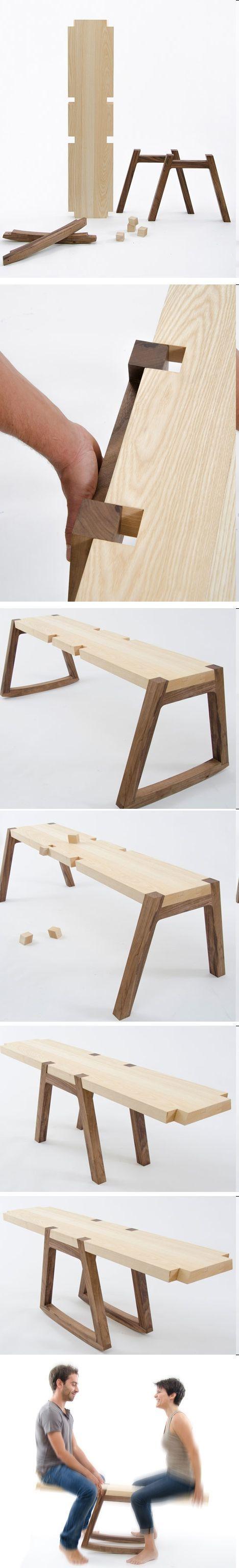 Diseño de mueble que a su vez es un juguete. // Twin Bench by Andrea Rekalidis