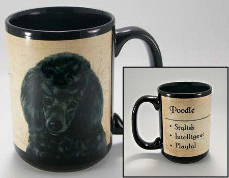 Faithful Friends Poodle Black Dog Breed Coffee Mug