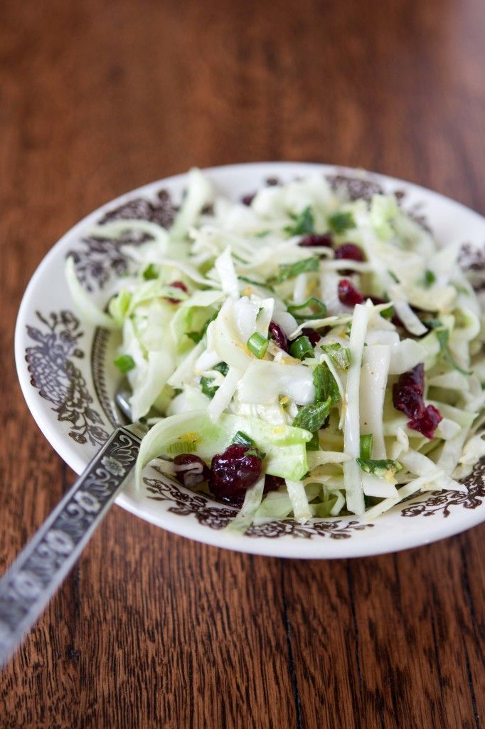 Cabbage and kohlrabi slaw with cranberries and mint | 31 Meals Summer ...