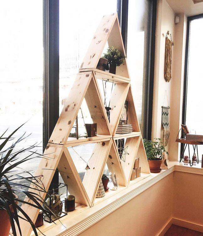 DIY Triangle Display Shelf