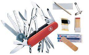 Victorinox SwissChamp SOS Set Swiss Army Knife with Free Pouch -- Click image to review more details.