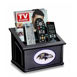 Baltimore Ravens Remote Caddy and Magazine Holder