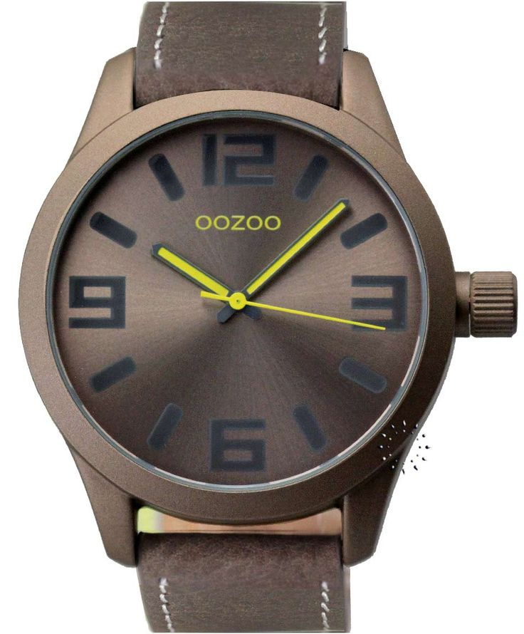 OOZOO Large Τimepieces Brown Leather Strap Η τιμή μας: 69€ http://www.oroloi.gr/product_info.php?products_id=34670