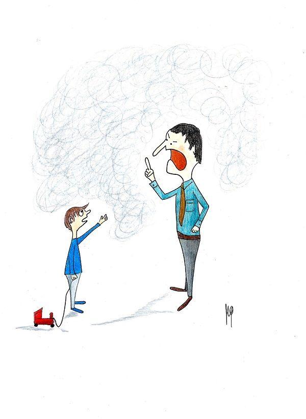 """Gli esempi, per i bambini, sono più utili dei rimproveri. I """"troppi"""" rimproveri favoriscono l'insediamento di quella nebbia tra noi e il bambino che non ci permette di comunicare con lui e impedisce di vedere oltre. www.papahopaura.it"""