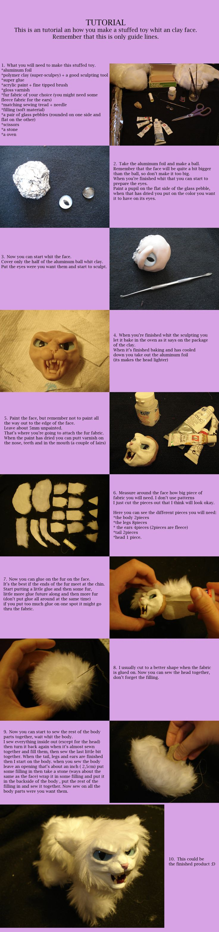 how to make custom animals: Cats Tutorials, Faces Tutorials, Dolls Tutorials, Soft Dolls, Clay Faces, Animal Dolls, Crafts Tutorials, Halloween Tutorials, Polymer Clay