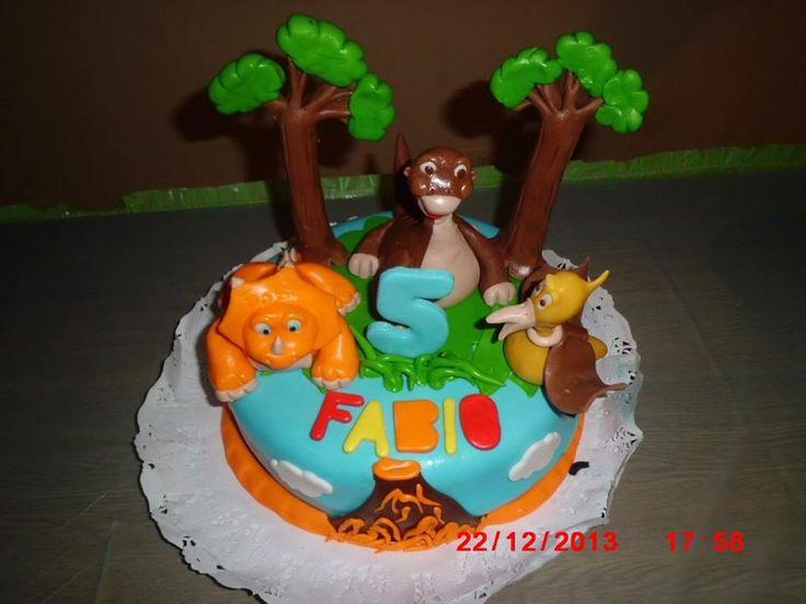 Tarta de Dino Tren para el 5º cumpleaños de Fabio !!!