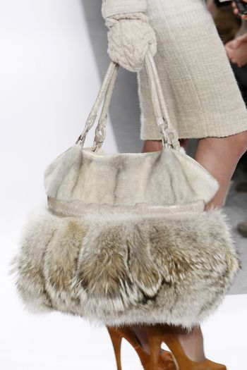 .I see this fur.  Can't help but think that looked better when the animal was wearing it.  Fur as a fashion statement .....  Makes me so sad.