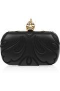 Alexander McQueen - Punk Baroc Skull leather box clutch  €1,395