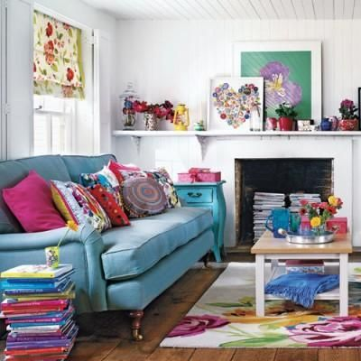 6 ways to make your living room more cheerful home for Funky home decor