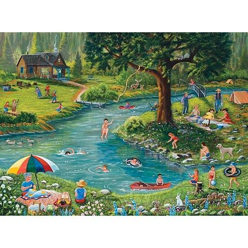 Fun At The Lake 1000 Piece Jigsaw Puzzle