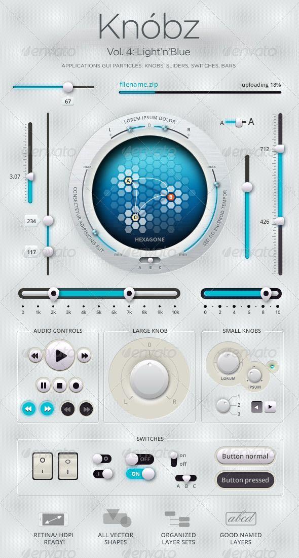 Edit Knóbz Vol.4: Light'n'Blue - GraphicRiver Item for Sale