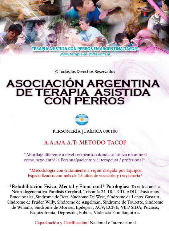 Tacop Argentina, Terapia Asistida con Perros , acompañamiento terapeutico con animales, terapia con perros, terapia asistida