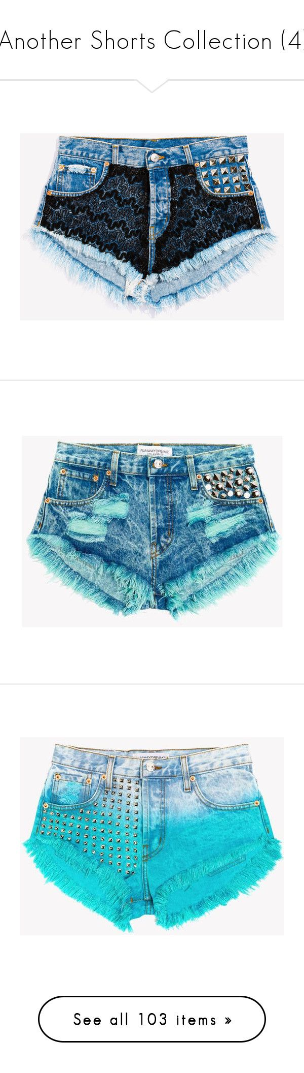 """""""Another Shorts Collection (4)"""" by neverland-is-just-a-dream-away ❤ liked on Polyvore featuring shorts, bottoms, cut off shorts, ripped jean shorts, destroyed denim shorts, frayed denim shorts, cutoff shorts, pants, runwaydreamz shorts and runwaydreamz"""
