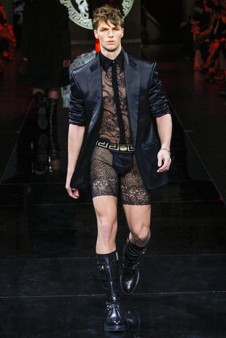 This is f***** hot ... http://www.style.com/slideshows/fashion-shows/fall-2013-menswear/versace/collection/31