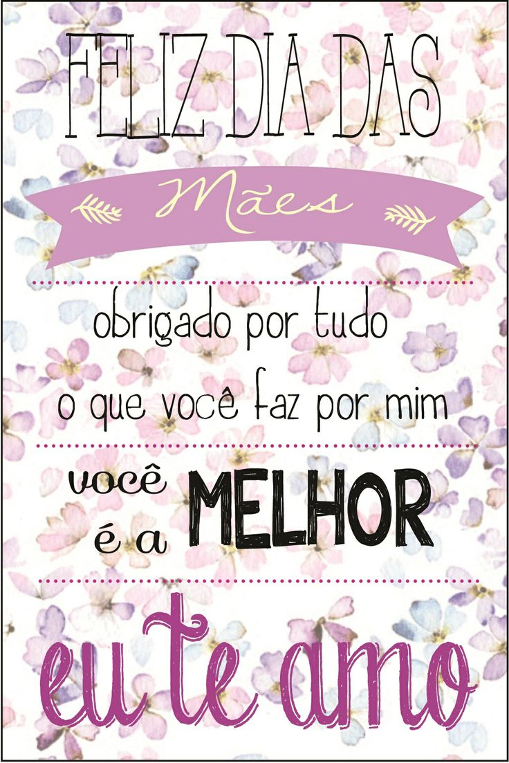 Cartão Dia das Mães.
