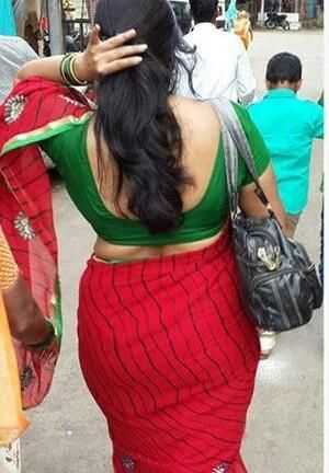 Back View Real In Street Indian Aunties Pinterest