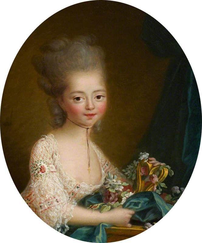 Marie-Joséphine-Louise de Savoie (1753–1810), comtesse de Provence, as a Young Girl by Italian (Piedmontese) School, c.1760/1765