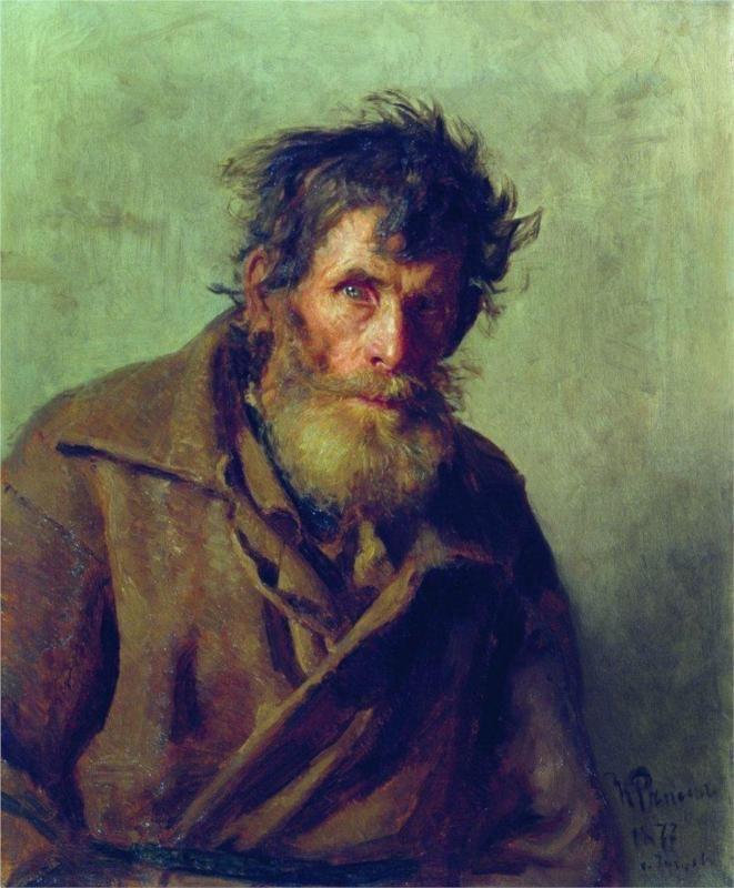 Ilya Repin-  A Shy Peasant, 1877: Russian Painters, Artists, Shy'M, Ilya Repin, Art Museums, 1877, Portraits, Shy Peasant, Painting