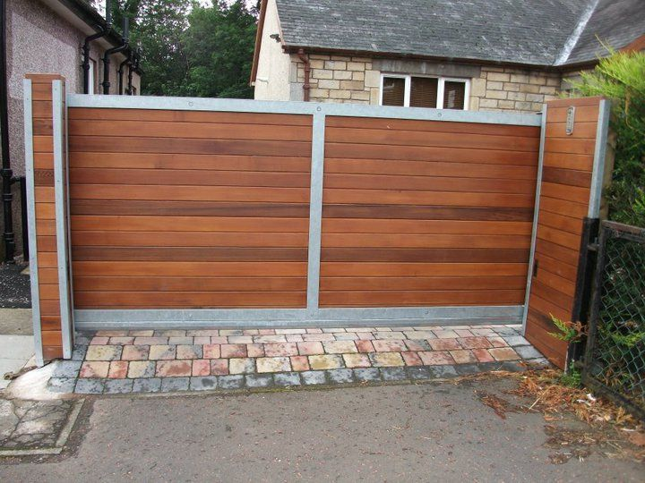 Cantilever Sliding Cedar Gate Gates Fences Pinterest