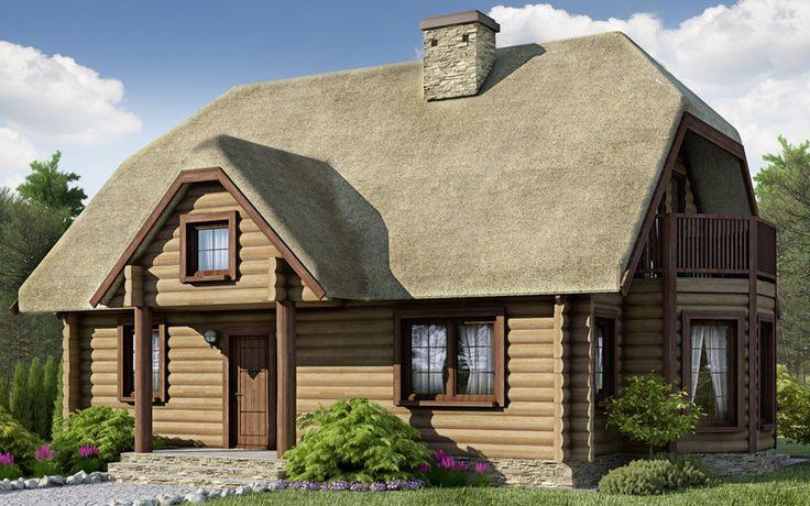DOM RX1-13 - Podstawowym założeniem przyjętym przy projekcie budynku było harmonijne wpisanie się w naturalny krajobraz i podjęcie kontynuacji tradycyjnego budownictwa wiejskiego.
