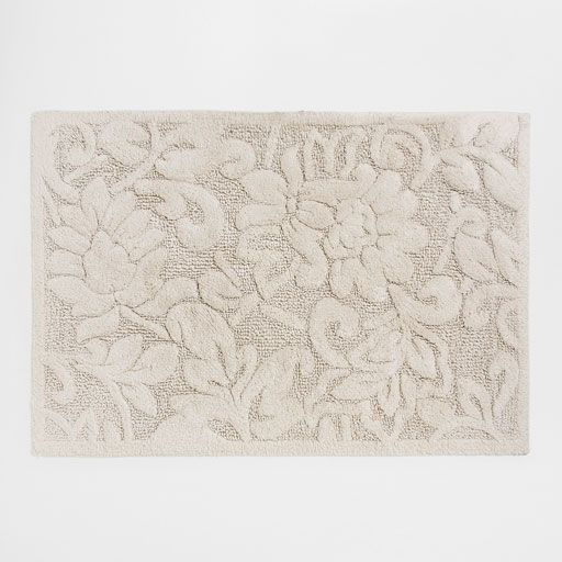 Image of the product COTTON BATH MAT WITH RAISED FLOWERS