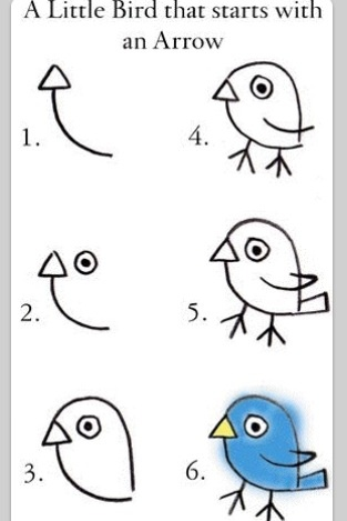 How To Draw A Bird... Starts With An Arrow. #DIY #Crafts