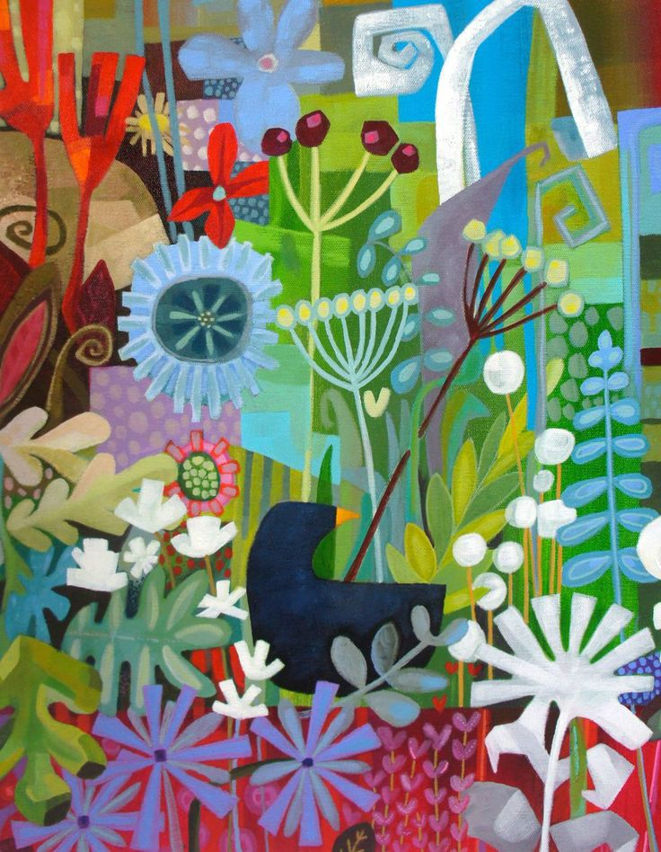 charlie O'sullivan painter. Inspiration. Wouldn't this composition look great in collage done with colorful magazine papers?
