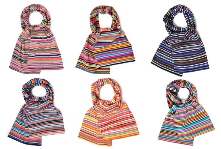 Knit Scarves - ZIO FOLLE - Colors Auror, Berry, Jule, Paradize & Zotal - Scarves by Mia Zia - Spring Summer 2012 Collection