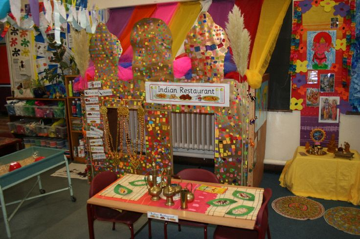 Indian restaurant role-play area classroom display photo - Photo gallery - SparkleBox