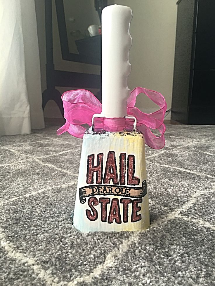 Retro hand painted cowbell for Mississippi State! #bulldogs #msu #hailstate…