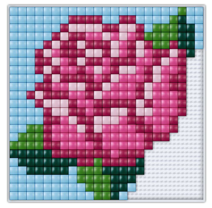 #pixel #gift #pixel.gift #pixelhobby #pixelen #xl #creatief #knutselen #doe-het-zelf #rose #roos