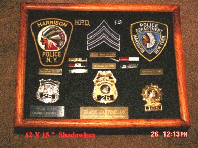 Shadow Box For All Our Law Enforcement Memories Gift