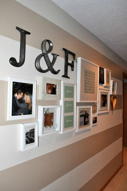 your relationship as a timeline on your wall in master bedroom. this is a neat idea