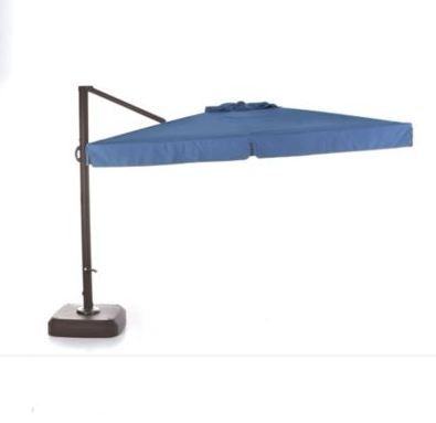Bring a pop of colour to your outdoor patio set. This umbrella provides 100 sq. ft. of shade!