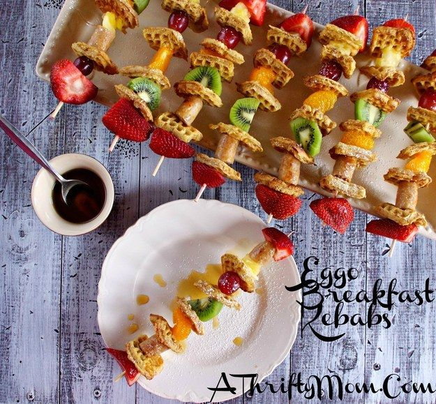 Eggo Breakfast Kebabs | 31 Foods On A Stick That Are Borderline Genius