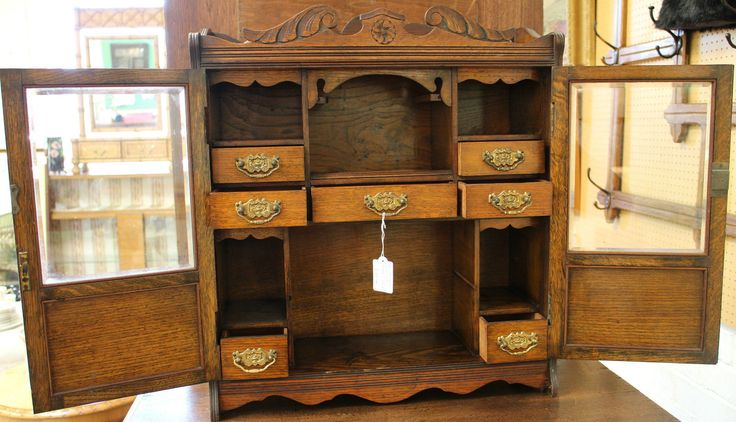 A lovely piece sold this morning, hope they enjoy this for years to come! Edwardian oak glazed smoker's cabinet..