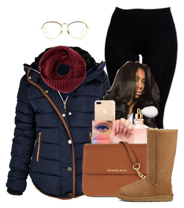 Untitled #1573 by melaninprincess-16 ❤ liked on Polyvore featuring Boohoo, Guerlain, MICHAEL Michael Kors, UGG, Linda Farrow and TOMS
