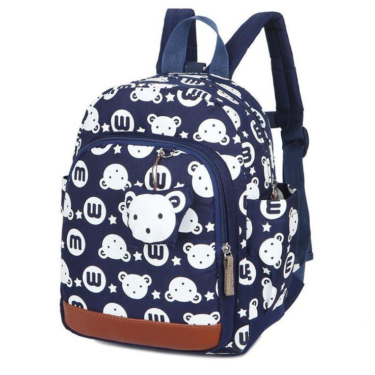 Anti-Theft Kids Animal Print Backpack